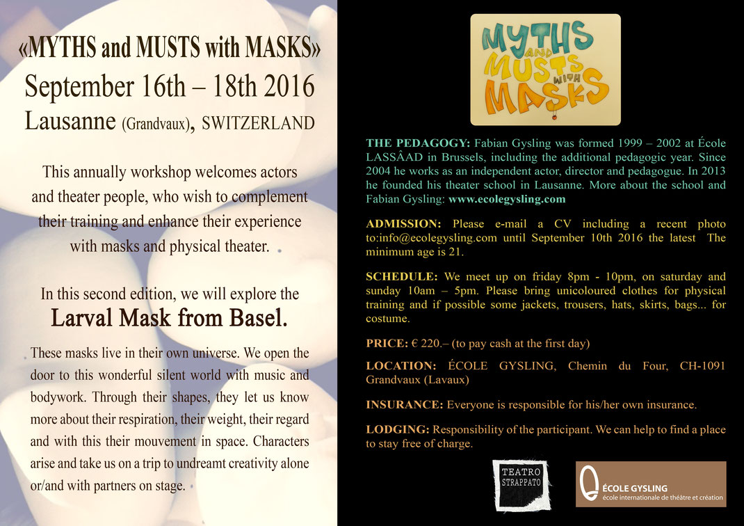 Larvenmasken, masques larvaires