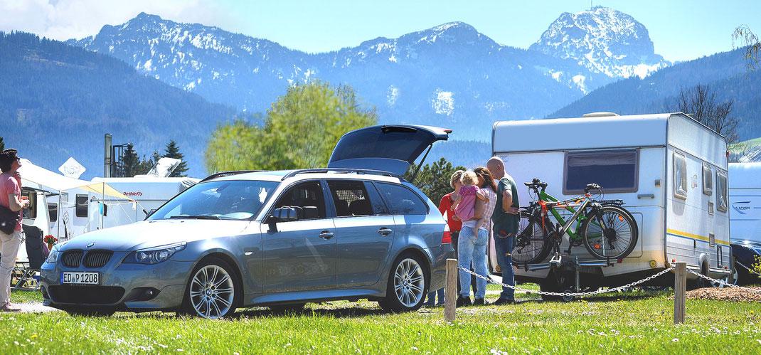 Campingplatz Kaiser Camping mit Bergblick, Bad Feilnbach, Wendelsteinregion