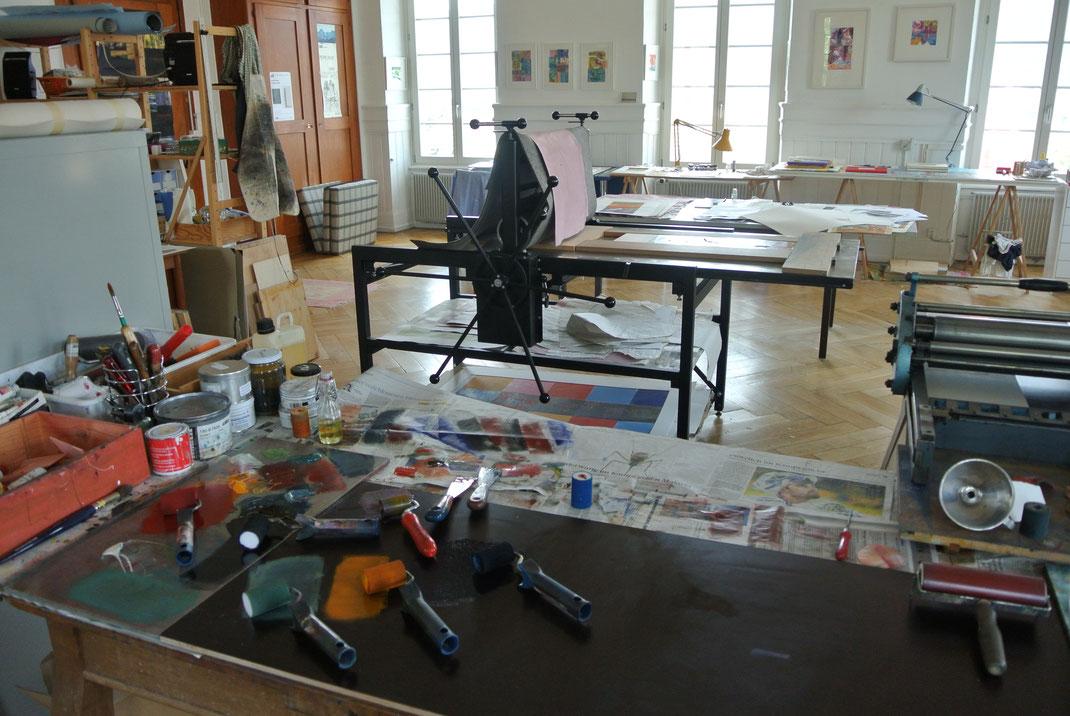 Atelier in einem ehemaligen alten Schulzimmer in Arch BE