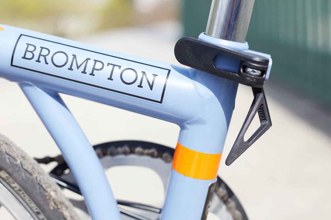 quickstand für Brompton 2.0 - der alternative Klapphebel für Brompton Falträder.