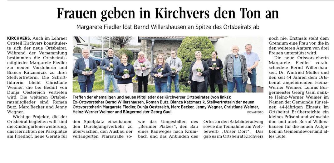 Quelle: Beitrag aus der Oberhessischen Presse