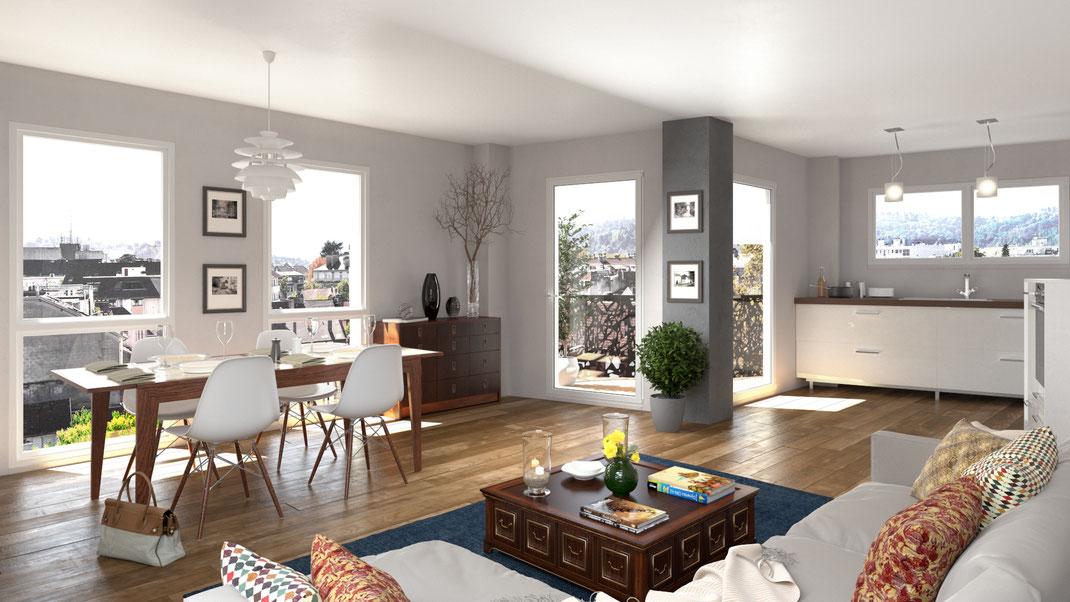 Votre appartement neuf à Clisson proche gare, 5 logements en attique