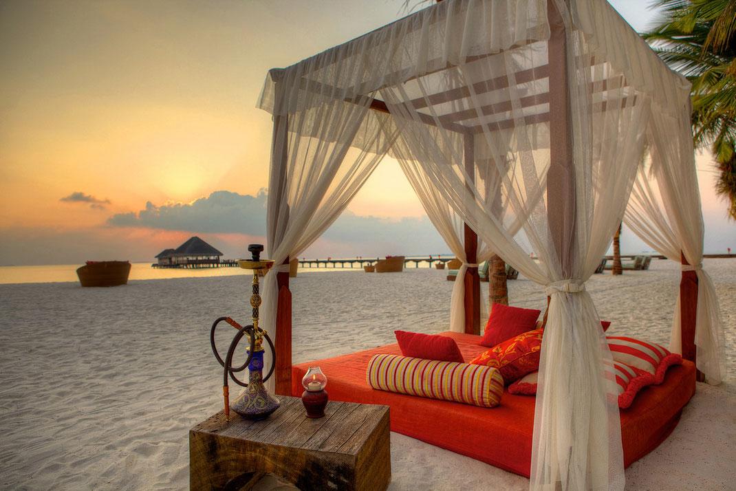 Romantikurlaub auf den Malediven (Foto von Kanuhura)