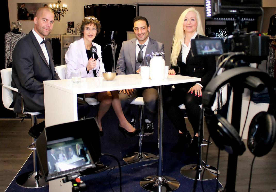 Shop von FTF wird zum Studio - TV Aufzeichnung Orange Blue, Moderation Nina Ramershoven, Concept & Styling Claudia C. Zierke