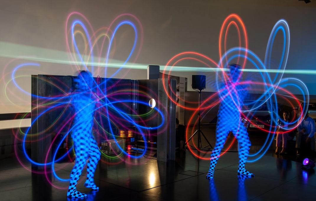 Lightshow in München BMW-Museum