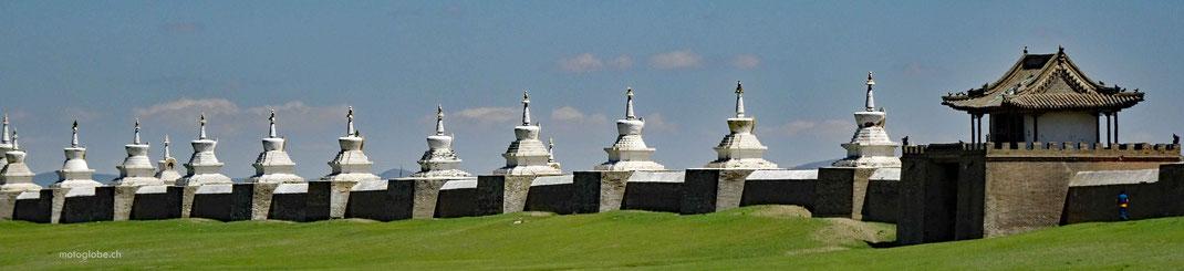 Die gut erhaltene Maueranlage