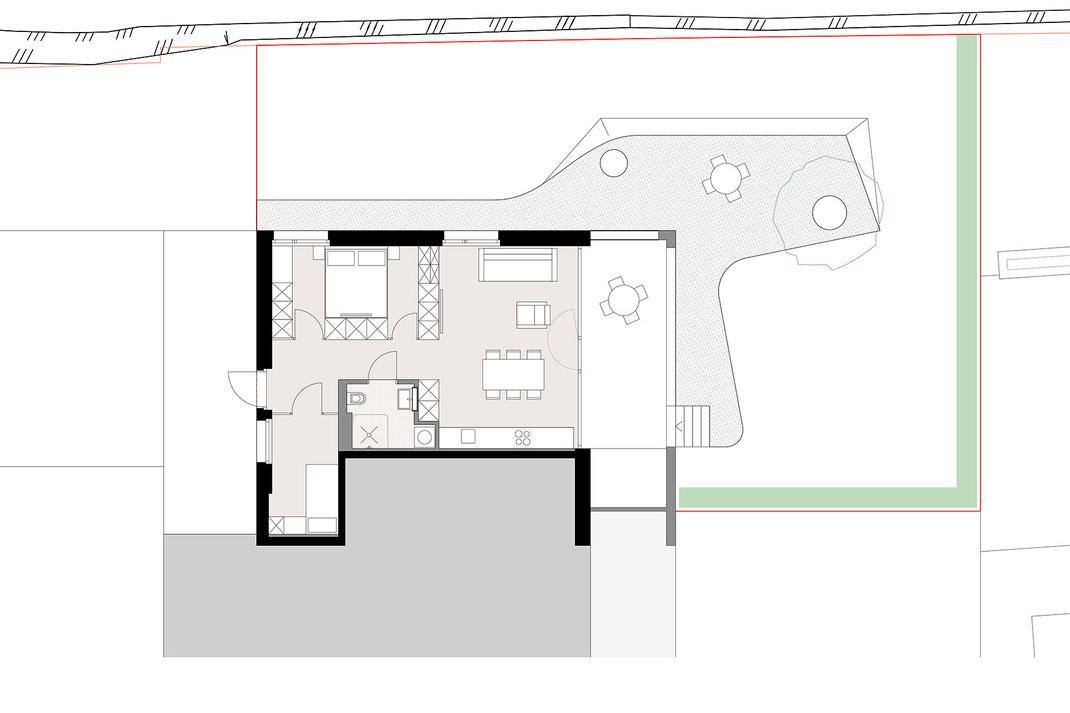 Wohnung neu Aufteilung  ©2019 Welte Architektur