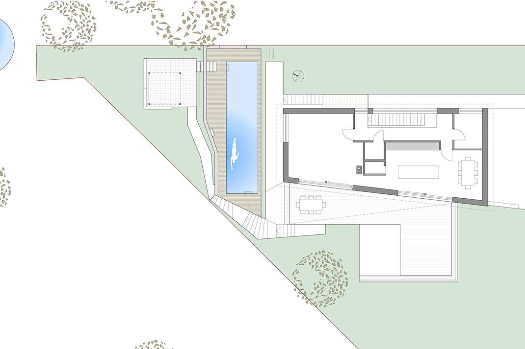 Pool Konzept L* Welte Architektur