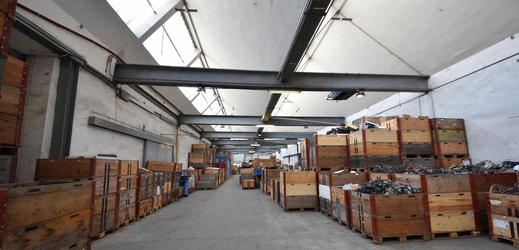 Halle für Elektrorecycling der Dock//St. Gallen