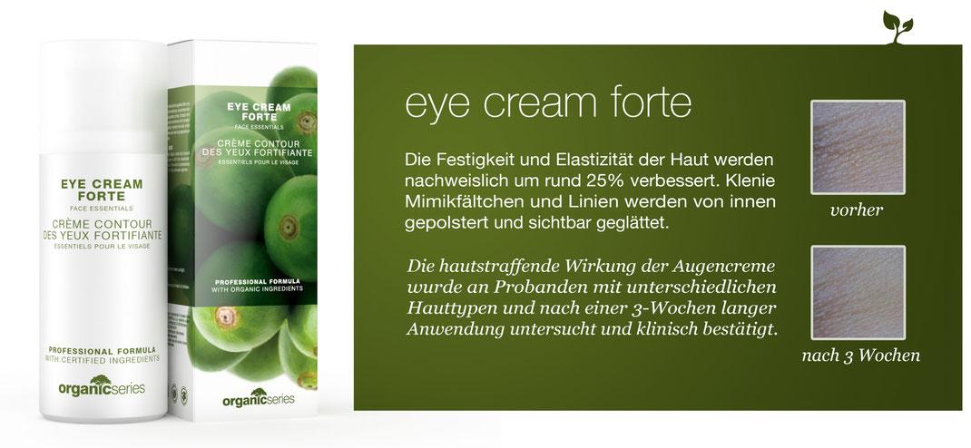 Augencreme 100% organisch, höchste Wirksamkeit, Anti-Falten Effekt, OrganicSeries