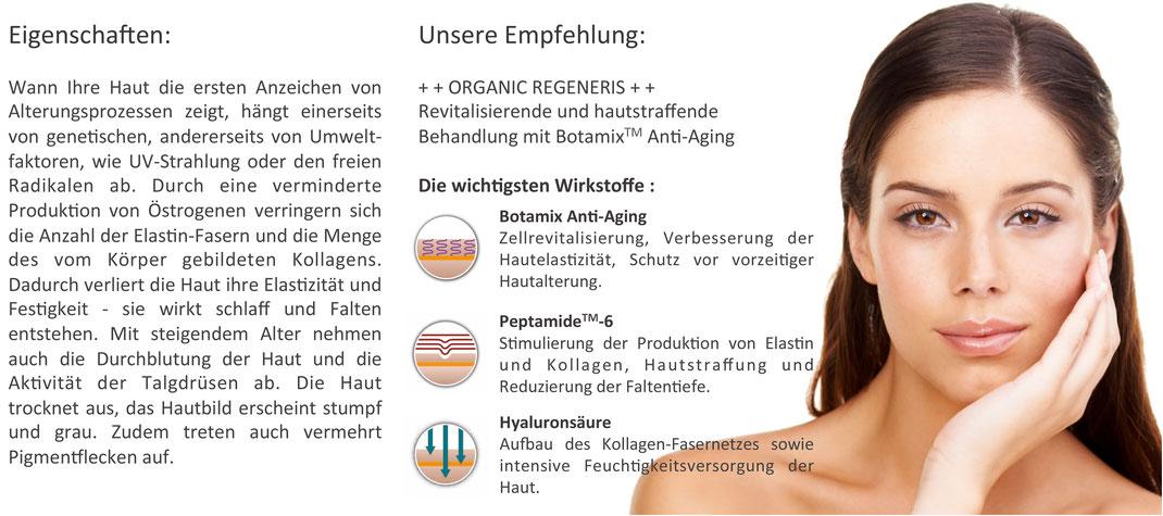 natürlic gegen Hautalterung, Biokosmetik gegen Falten, Anti-Aging