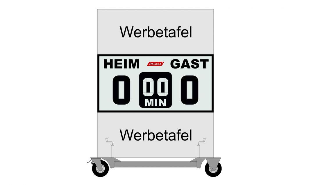Mobile Solar Resultatanzeige M-FAS 100/2 - Fussballanzeige - Sport Anzeigetafel - Spielstandanzeigetafel