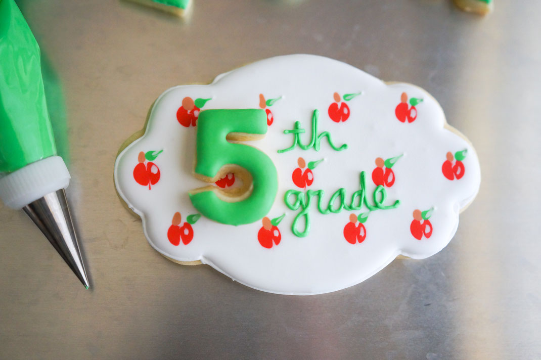 Decorated Sugar Cookies for Back to School