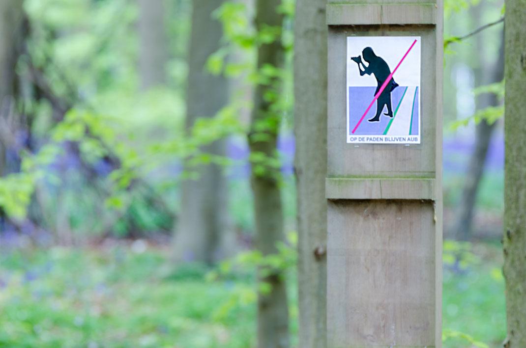 Hinweisschilder im Blauen Wald