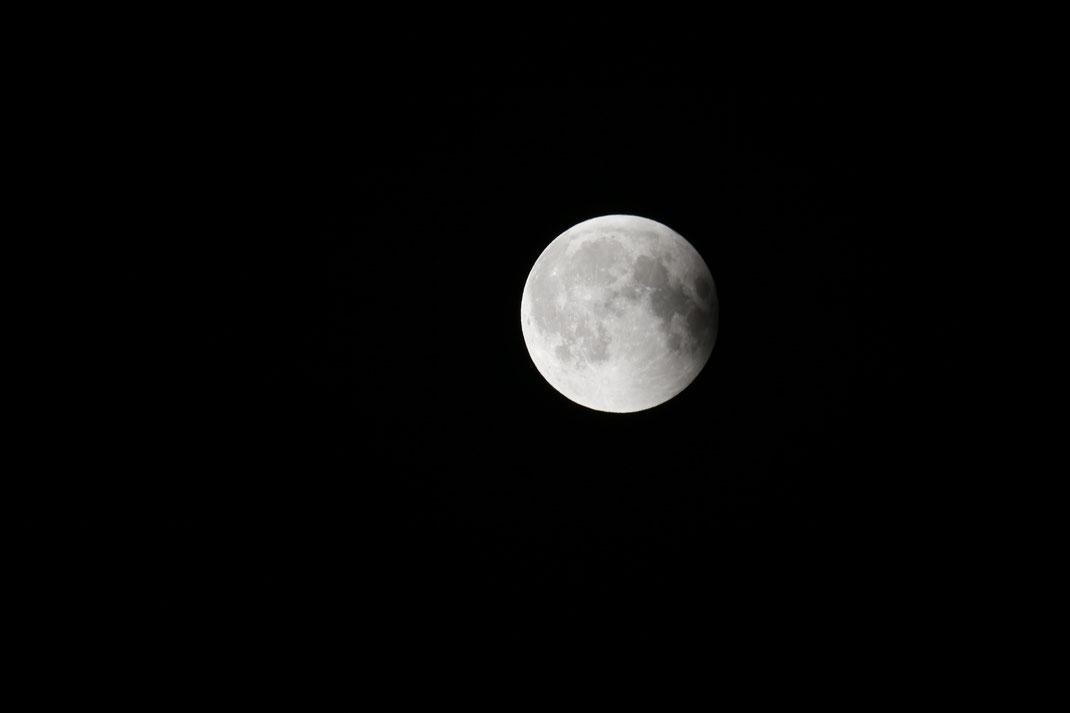 Zu guter Letzt der Voll-Mond, na ja fast ein kleiner Schatten rechts gibt es noch.