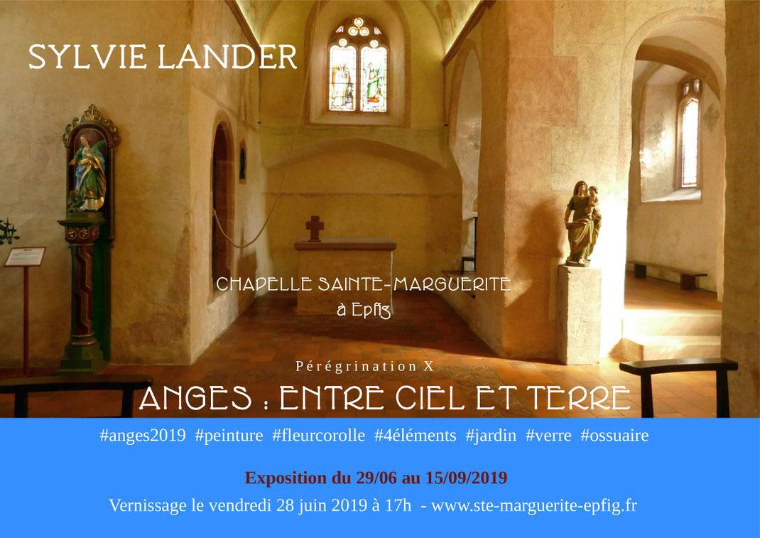 Sylvie Lander-peinture-vitraux-fleurs-couleurs-jardin médiéval- #SylvieLander
