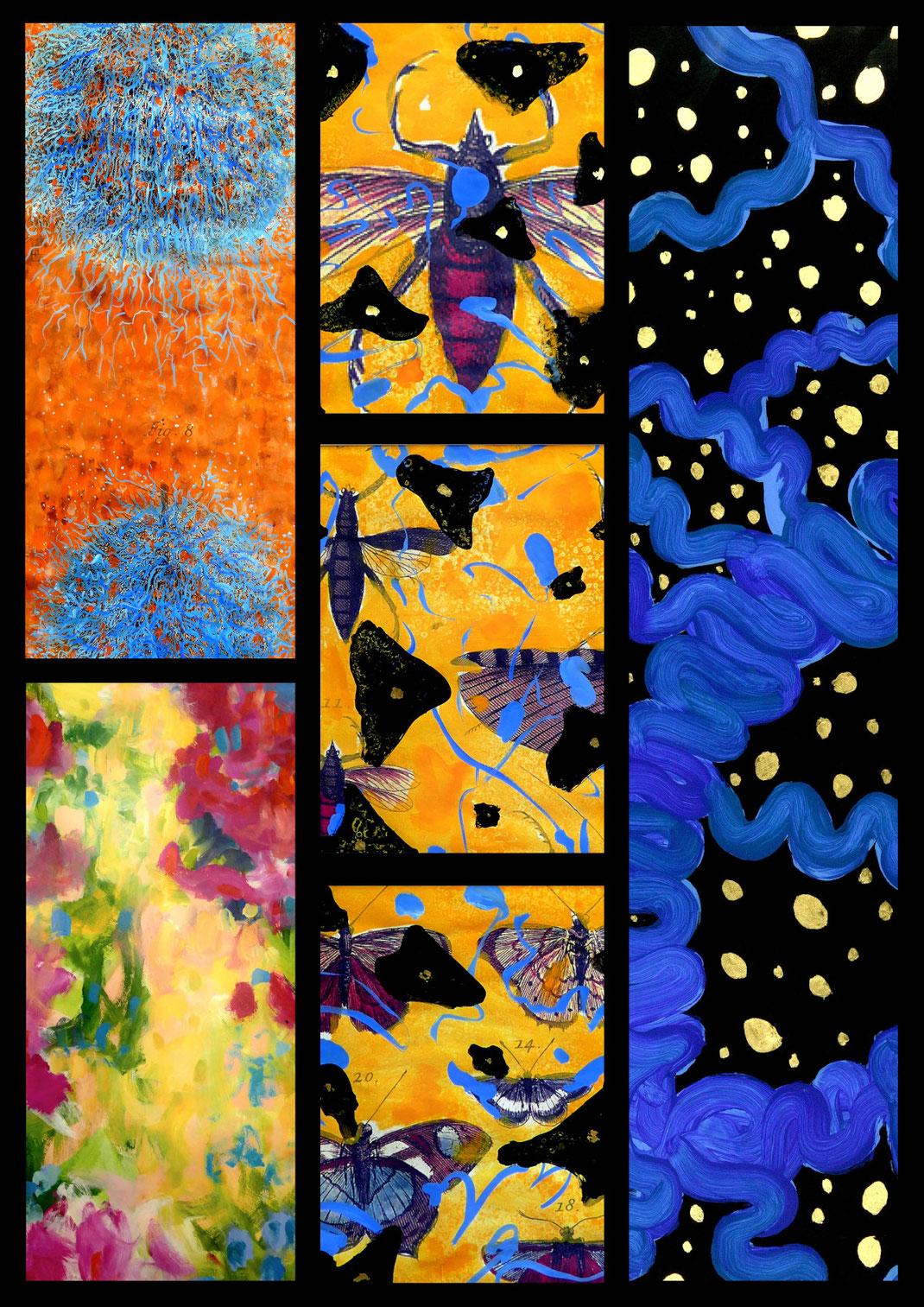 Sylvie Lander-peinture-ciels-fleurs-papillons-couleurs-musée-maison Albert Schweitzer-respect de la vie-gunsbach- #SylvieLander