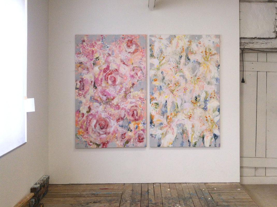Sylvie Lander-peinture-jardin-fleurs-couleurs #sylvielander