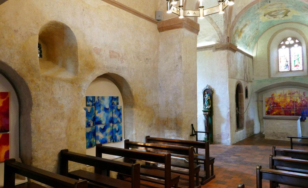Sylvie Lander-peinture-anges-fleurs-couleurs-chapelle Sainte-Marguerite-Epfig- #SylvieLander