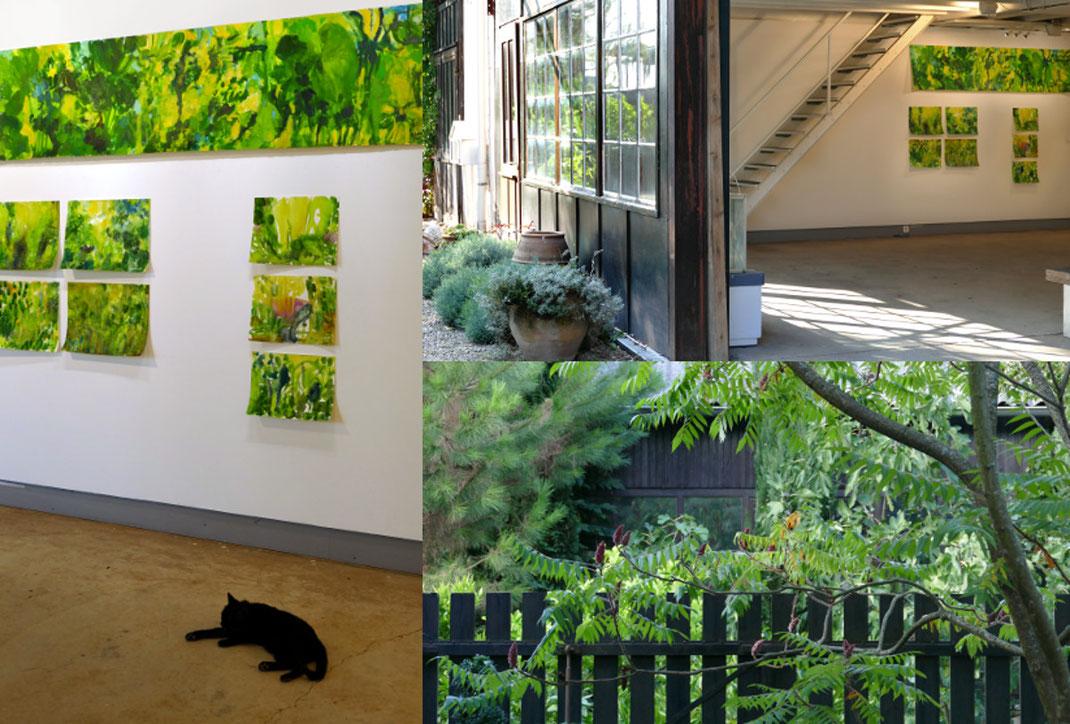Sylvie Lander-peinture-fleurs-couleurs-jardin