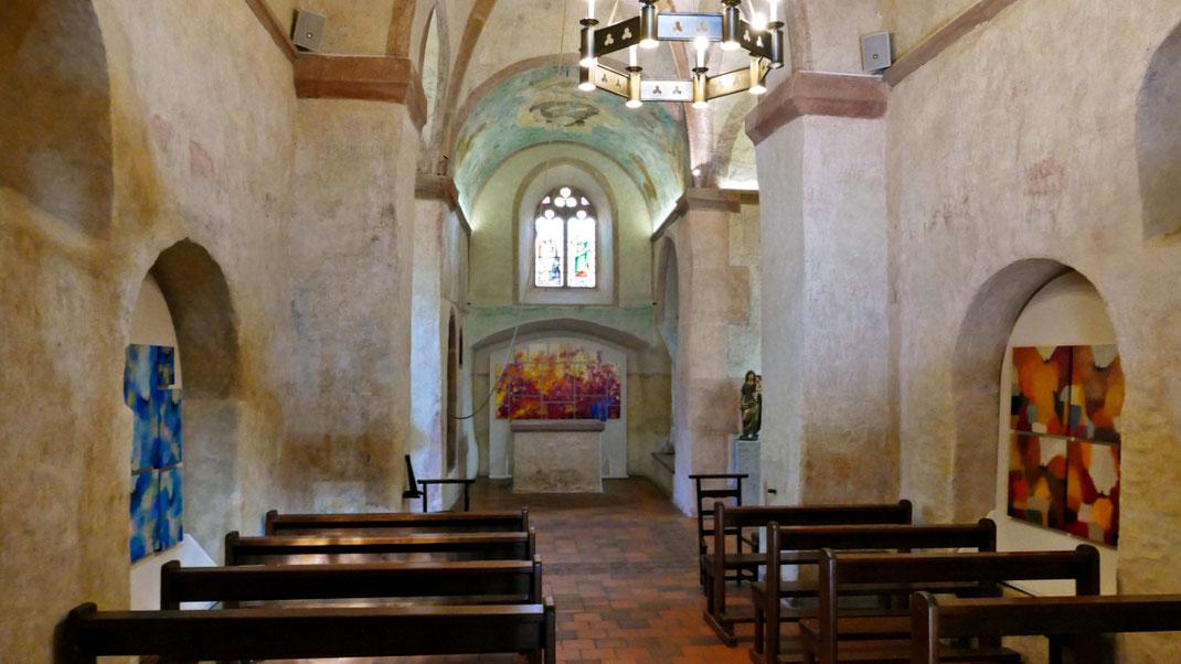 Sylvie Lander-peinture-anges-incandescence-fleurs-couleurs-chapelle Sainte-Marguerite-Epfig- #SylvieLander