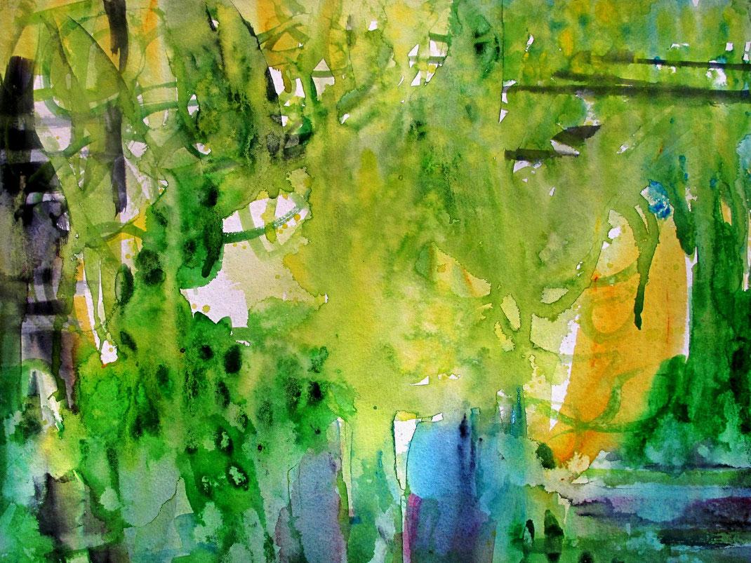 Sylvie Lander-peinture-aquarelles-fleurs-jardin-couleurs-galerie escalier-brumath- #SylvieLander