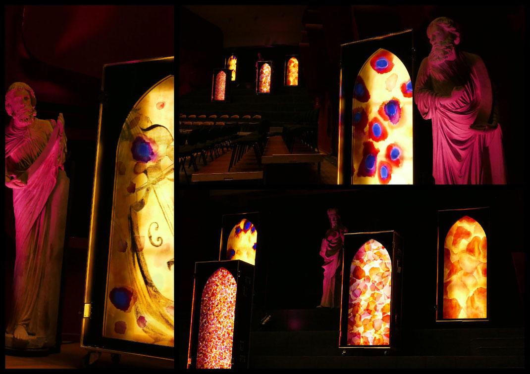 Sylvie Lander-Light cases-Palais de la musique et des congrès-Strasbourg-OPS-vitraux nomades-couleurs-lumieres-2016