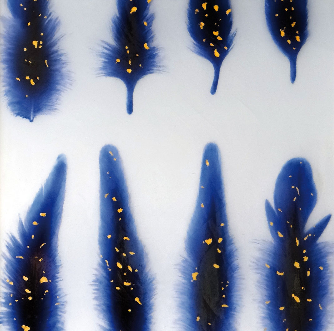 Sylvie Lander, verre, vitraux, cosmos, peinture, ange, couleur, ©sylvie lander