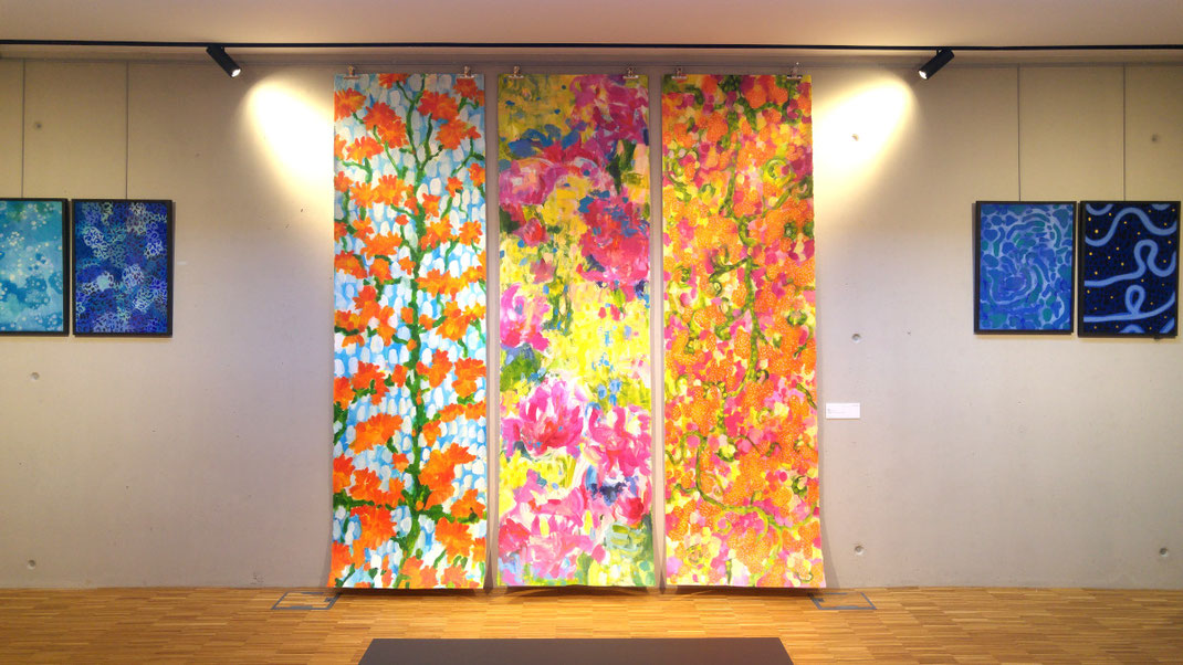 Sylvie Lander-peinture-exposition-couleur-jardins-Maison-Albert-Schweitzer-2021