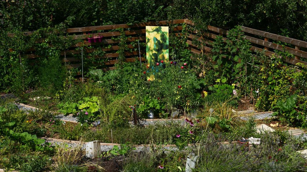 Sylvie Lander-vitraux-verre-jardin-couleurs #sylvielander
