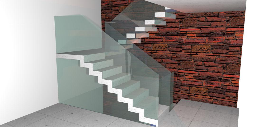 Beton Faltwerk Treppen Nonnast Raum Beton Design