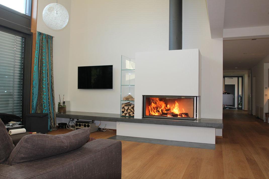 betonkaminverkleidung einseitig nonnast raum beton design. Black Bedroom Furniture Sets. Home Design Ideas