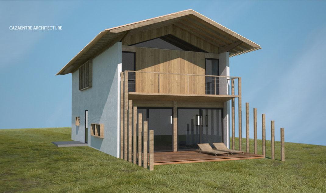 maison basque contemporaine cazaentre architecte. Black Bedroom Furniture Sets. Home Design Ideas