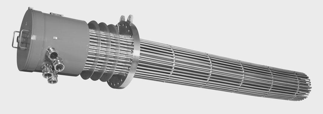 riscaldatori ad immersione su flangia ATEX Lorenzoni