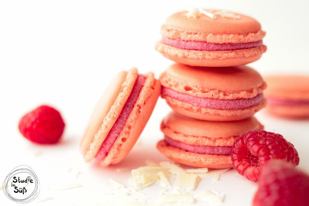 Rezept für Macarons mit Himbeer-Ganache