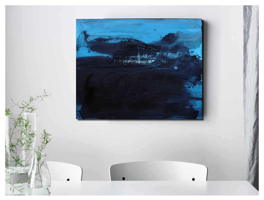 schwarz blaues Bild - verkäuflich