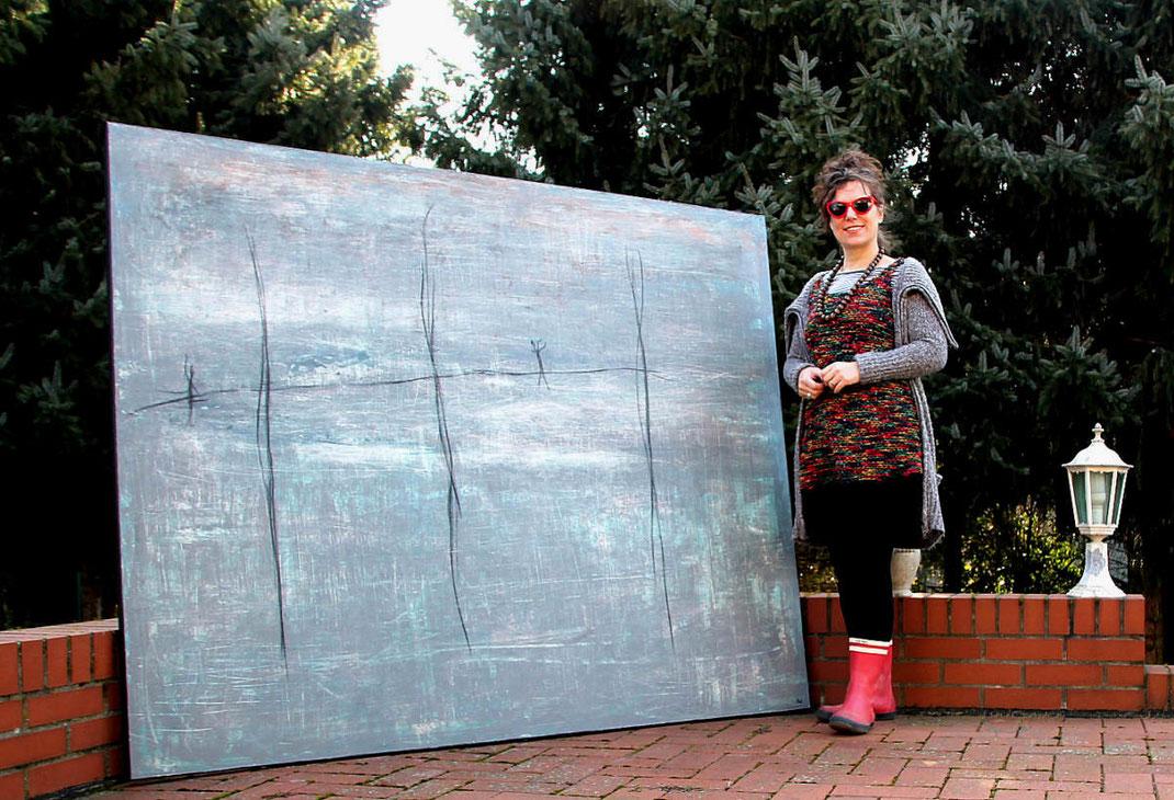 Eisrevue - 200 x 160 cm - wird in der Schweiz leben :-)