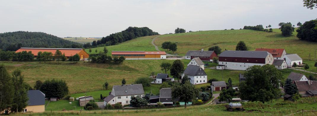 Börnchen mit Stallungen und Gutshof des Versuchsgutes (Foto: Zettel)
