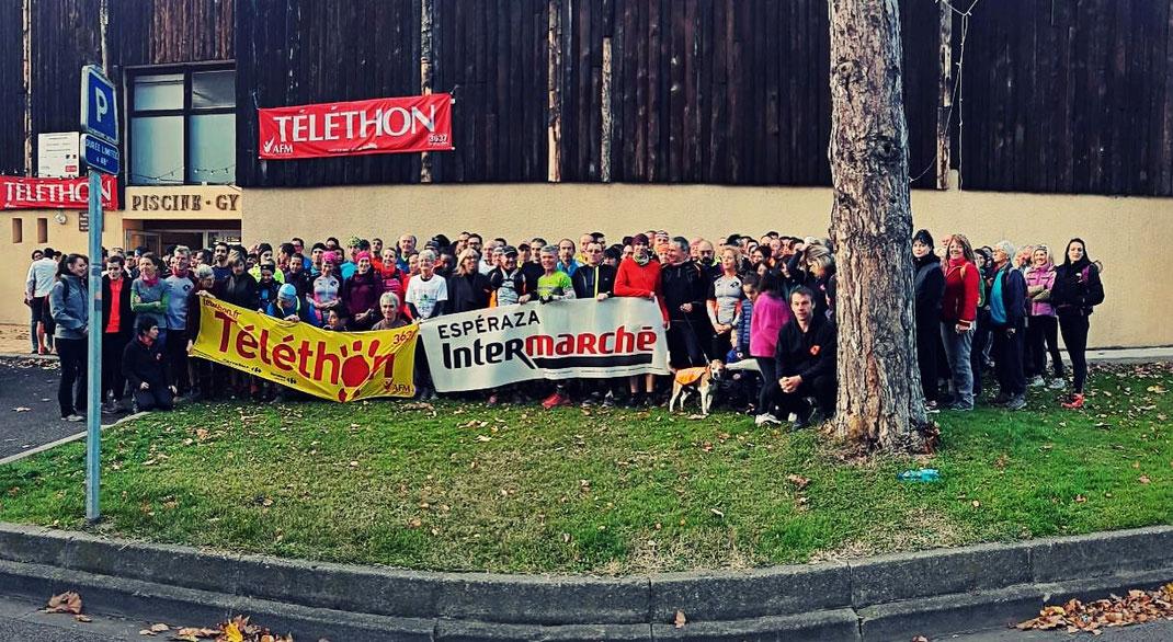 Photo de famille Téléthon Trail Quillan 2018
