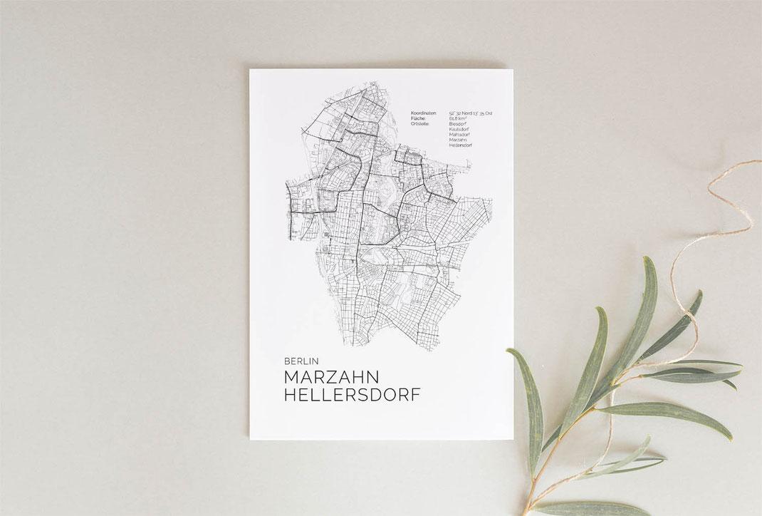 Berlin Marzahn Hellersdorf Poster im skandinavischen Stil