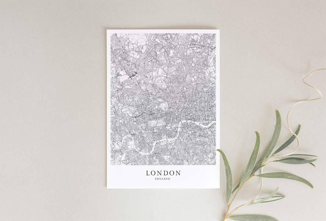 London Poster als Geschenkidee im skandinavischen Stil minimalistisch gestaltet
