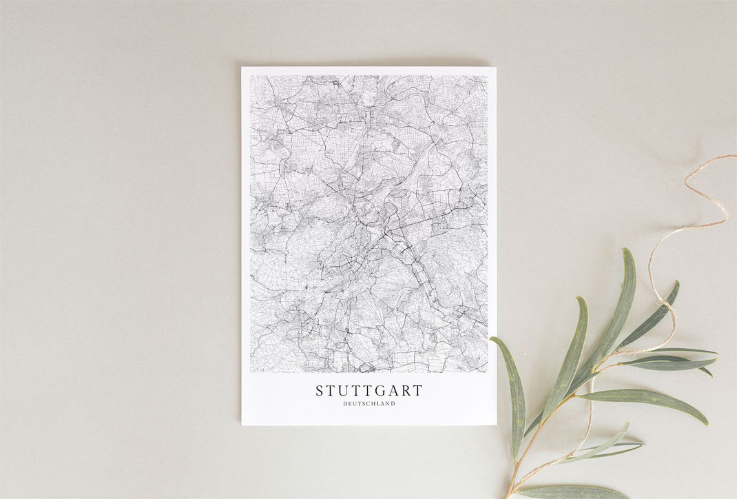 Stuttgart Poster als Geschenkidee