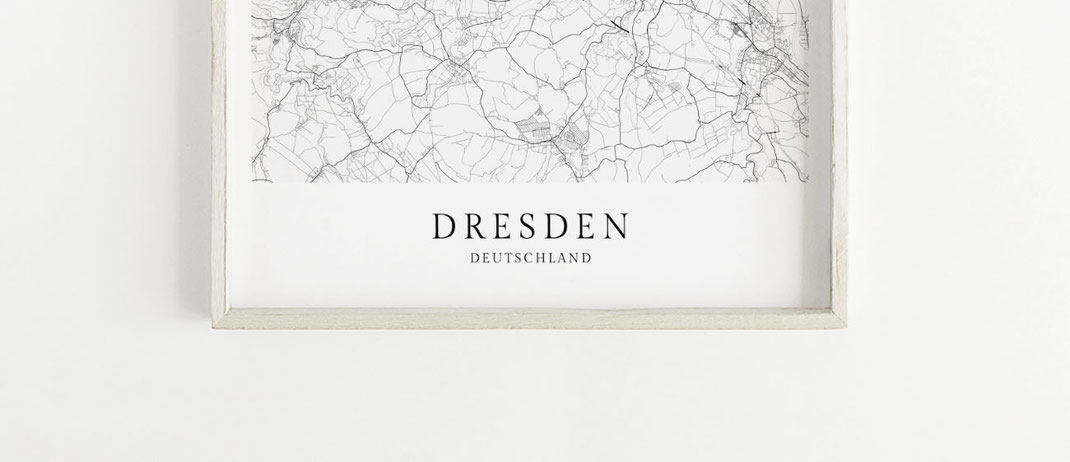 Poster Dresden im skandinavischen Stil