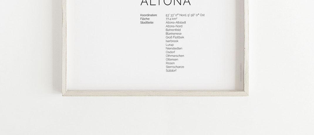 Hamburg Altona Poster Print im skandinavischen Stil