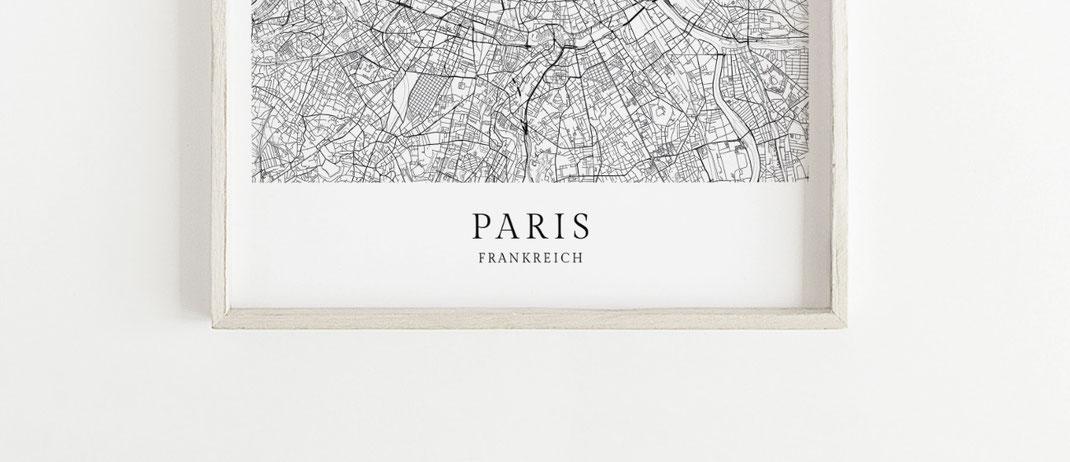 Paris Poster im skandinavischen Stil