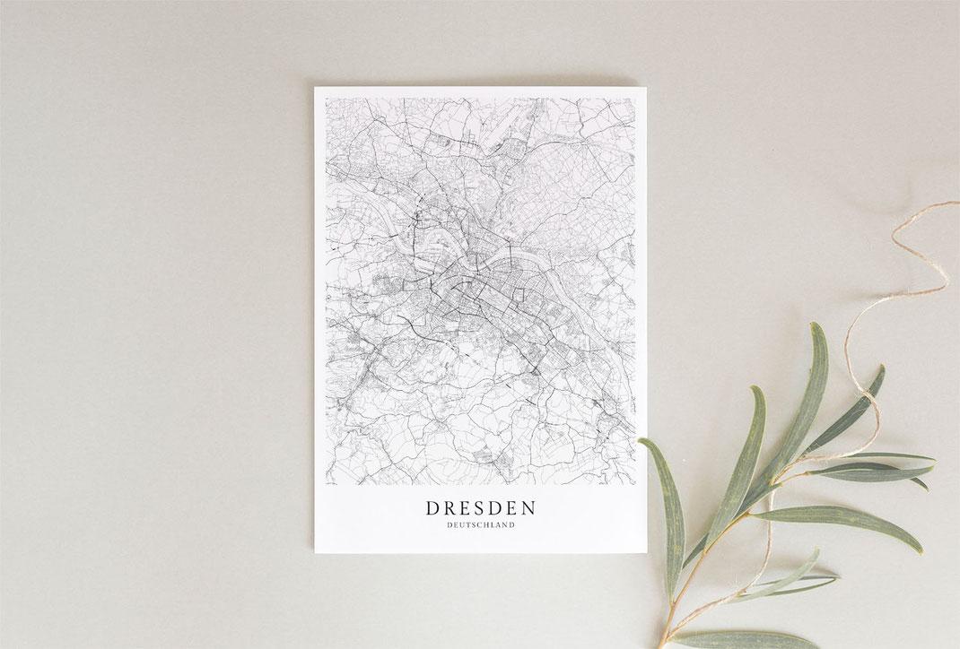 Dresden Poster als Geschenkidee