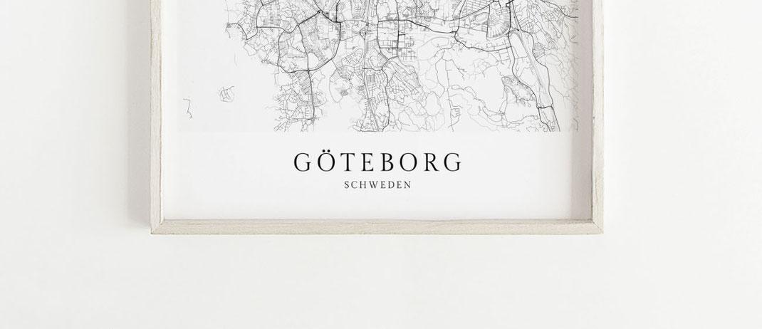 Göteborg Schweden Poster Geschenk