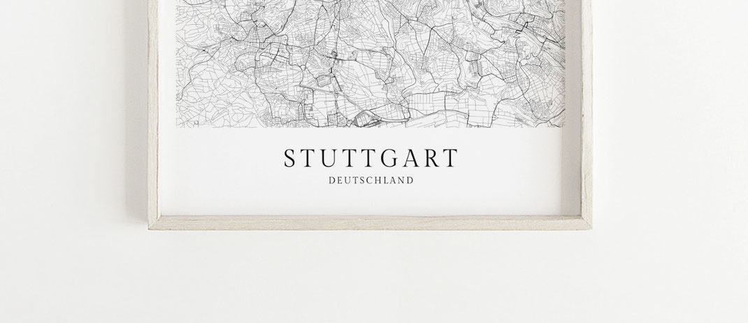 Stuttgart Poster im skandinavischen Stil