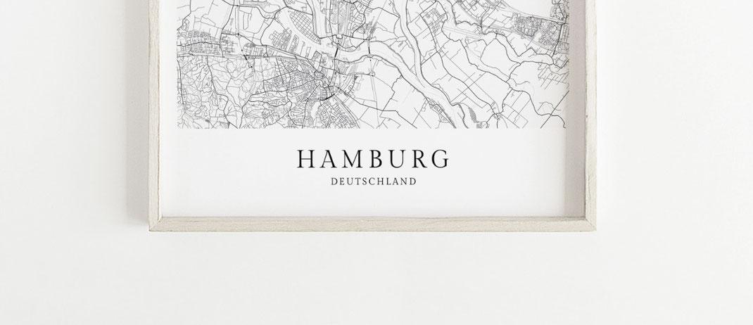 Hamburg Poster als Geschenk