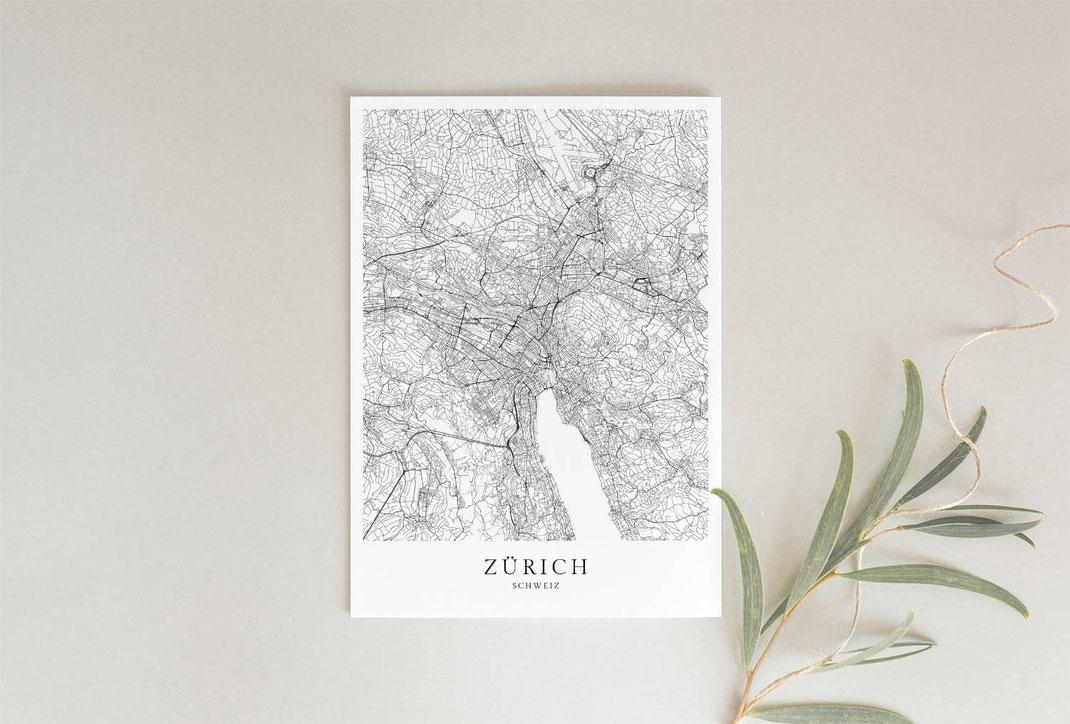 Zürich Poster als Geschenkidee